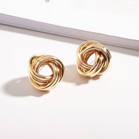 Fashion exaggerated new Korean simple irregular flower-shaped metal earrings NHAI242874's discount tags