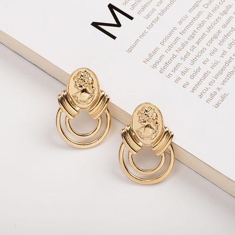 new retro portrait trendy vibrato women's alloy earrings wholesale NHAI242879's discount tags
