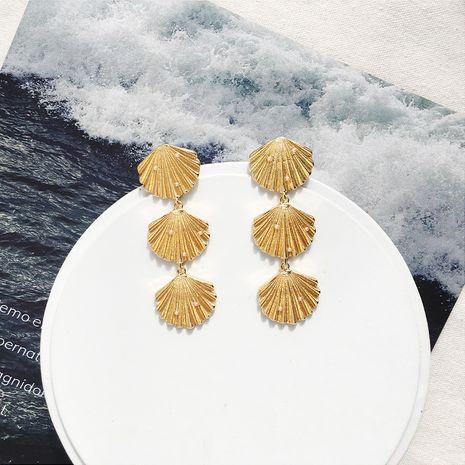 creative new retro long bohemian creative tassel shell earrings wholesale nihaojewerly NHAI242890's discount tags