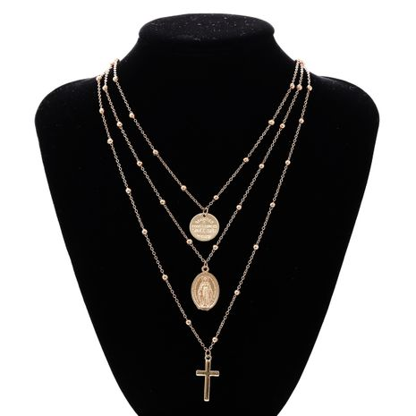 Fashion winter new exaggerated retro multilayer retro necklace  NHAI242899's discount tags