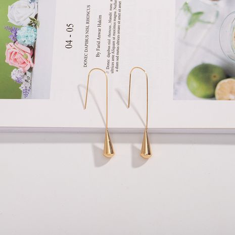 minimalist  fashion creative ear hook earrings wholesale nihaojewerly NHAI242900's discount tags