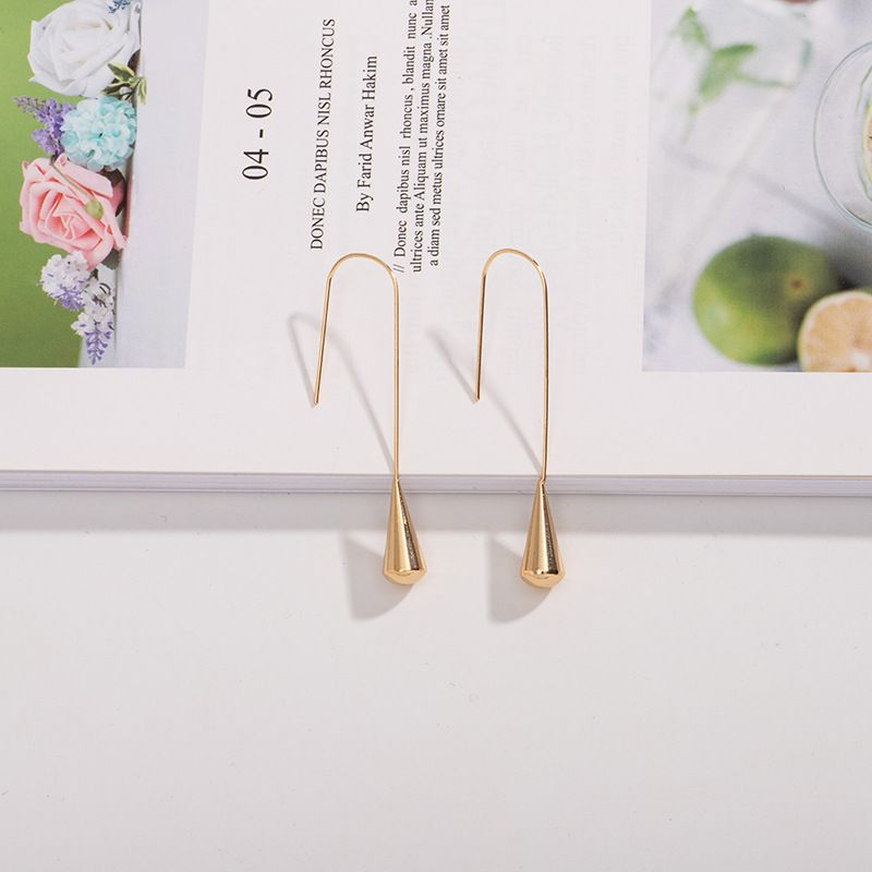 minimalist  fashion creative ear hook earrings wholesale nihaojewerly NHAI242900