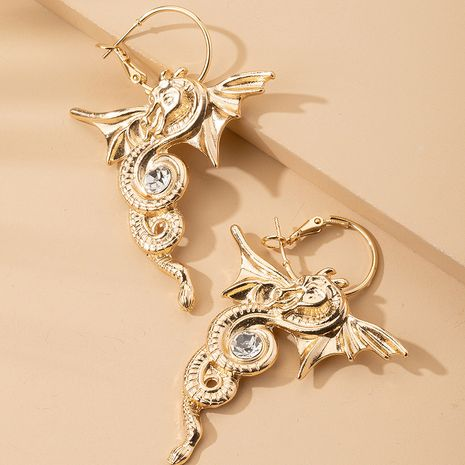 new dragon-shaped earrings exaggerated retro simple gold-plated earrings wholesale nihaojewerly NHAI242905's discount tags