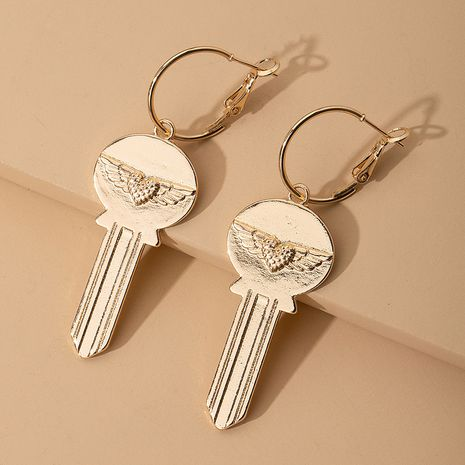 new long tassel fashion simple exaggerated key earrings wholesale nihaojewelry NHAI242910's discount tags