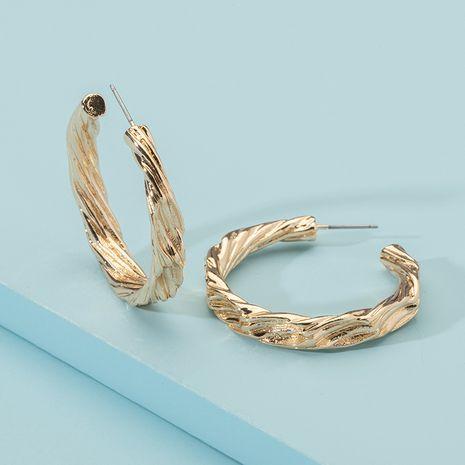Korean metal C-shaped round retro new trendy earrings wholesale nihaojewelry NHAI242914's discount tags