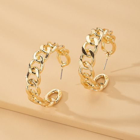 fashion punk style metal thick chain earrings wholesale nihaojewelry NHAI242921's discount tags
