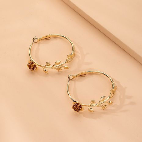 new fashion exaggerated round big ear hoop earrings wholesale nihaojewelry NHAI242930's discount tags