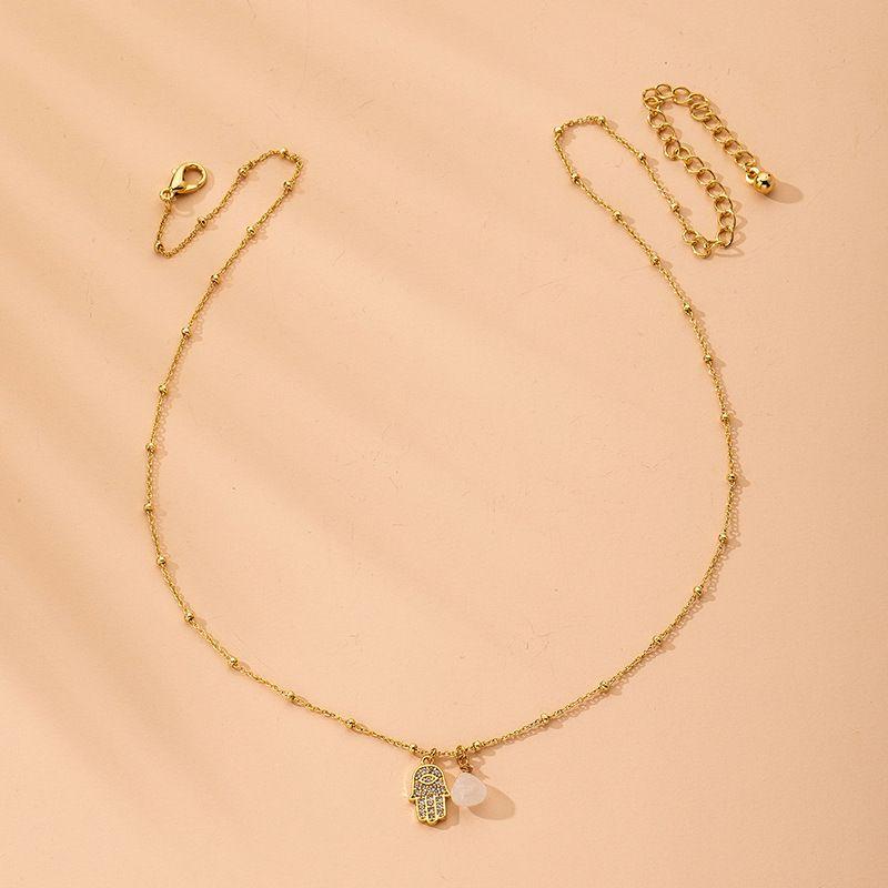 Fashion wind angel eye  retro alloy pendant clavicle chain for women Wholesale  NHAI242933