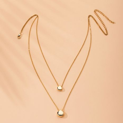 Fashion new Ingot alloy Water Drop Double-layer Clavicle Chain for women NHAI242934's discount tags