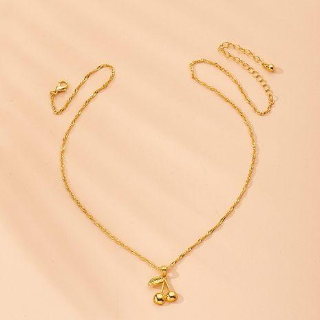 nueva cadena de clavícula colgante de aleación de fruta de cereza para mujer al por mayor NHAI242936's discount tags