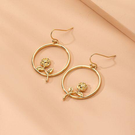 Korean tassel exaggerated flower geometric alloy earrings wholesale nihaojewelry NHAI242937's discount tags