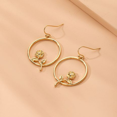 Korean tassel exaggerated flower geometric alloy earrings wholesale nihaojewelry NHAI242937's discount tags