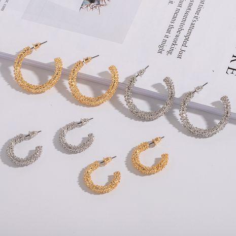 minimalist geometric circular retro  irregular style earrings wholesale nihaojewelry NHAI242939's discount tags