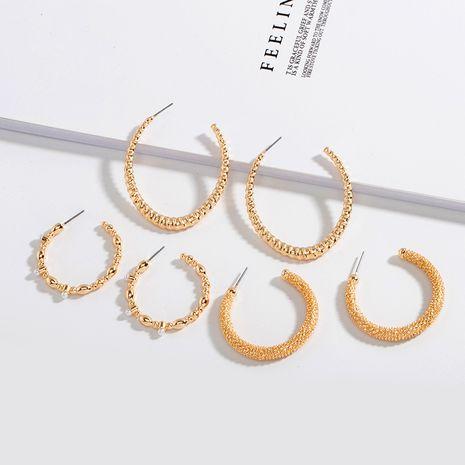 Korea fashion trend C-shaped retro exaggerated earrings ear jewelry for women NHAI242940's discount tags