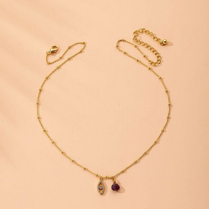 Fashion angel eye  retro alloy pendant clavicle chain for women NHAI242944