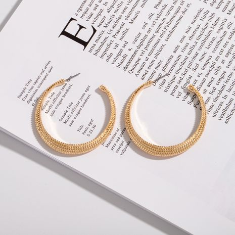new fashion hoop earrings simple popular retro C-shaped earrings wholesale nihaojewelry NHAI242945's discount tags