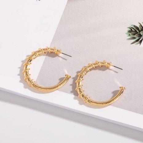Korea C-shaped circle retro style half hoop earrings wholesale nihaojewelry NHAI242946's discount tags