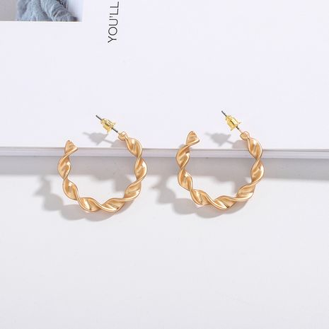 Circle  retro Korean new trendy  earrings wholesale nihaojewelry NHAI242947's discount tags
