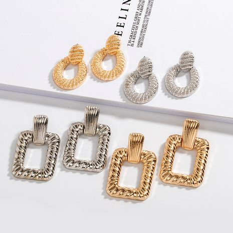 new retro palace style simple exaggerated metal fashion trend alloy earrings for women NHAI242948's discount tags