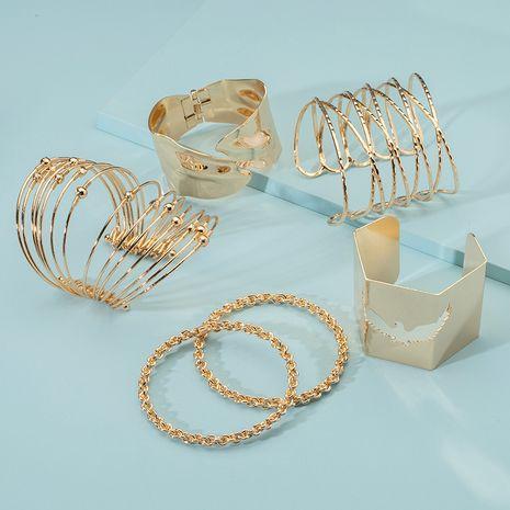 Simple retro bracelet gold color frosted bracelet sense of bracelets wholesale nihaojewerly NHAI242951's discount tags