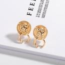Fashion new fashion trend retro lion head simple earrings for women NHAI242952