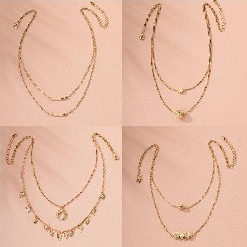 Fashion multi-layer hip-hop women's simple new alloy necklace  wholesale NHAI242954