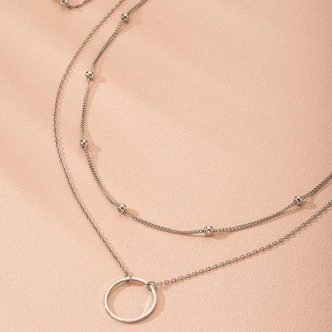 Korea geometric simple metal ring pendant minimalist alloy necklace wholesale  NHAI242957's discount tags