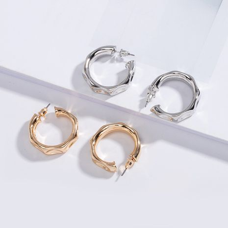 Korean C-shaped irregular bump metal  fashion earrings wholesale nihaojewelry NHAI242959's discount tags