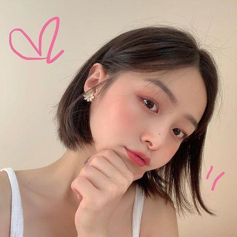 hot sale Korean small daisy fairy short simple alloy earrings wholesale NHBQ242963's discount tags