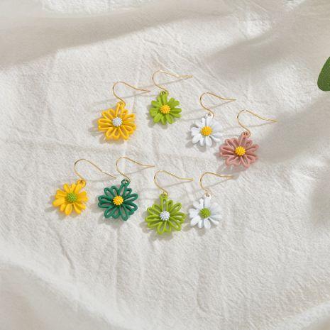 Korean asymmetric daisy flower simple love earrings wholesale nihaojewerly NHBQ242964's discount tags
