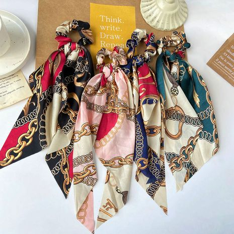 Ribbon  Long Cloth Silk Chain Large Intestine Circle Ponytail Hair Ornament wholesale nihaojewerly NHPJ242968's discount tags