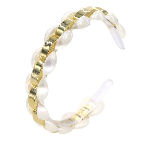 pearl alloy gold-plated color matching transparent ball headband wholesale nihaojewelry NHCO242978's discount tags