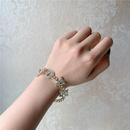 simple niche love letter trend alloy pendant clavicle necklace bracelet set for women  NHYQ242980