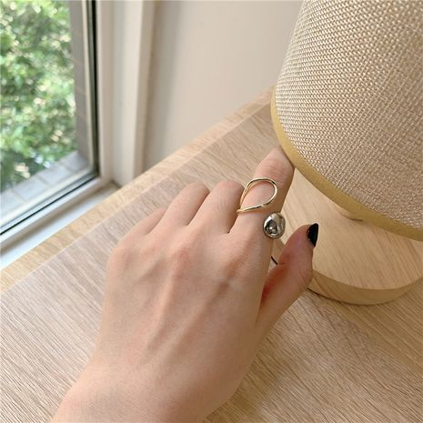 simple two-color ring metal light opening adjustable ring wholesale nihaojewerly NHYQ242991's discount tags