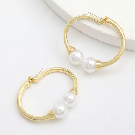 alliage incrusté de perles boucles d'oreilles géométriques femmes rétro boucles d'oreilles simples en gros nihaojewerly NHJE243014's discount tags