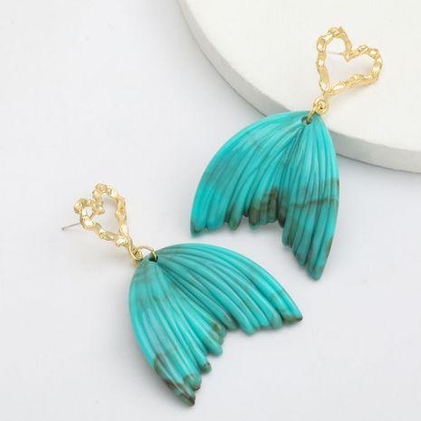 simple love heart-shaped alloy resin leaf retro bohemia earrings wholesale nihaojewerly NHJE243013's discount tags