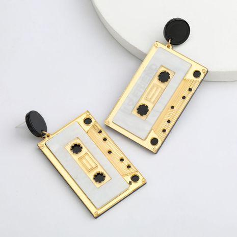 Fashion retro tape resin earrings literary hot selling earrings wholesale nihaojewerly NHJE243017's discount tags