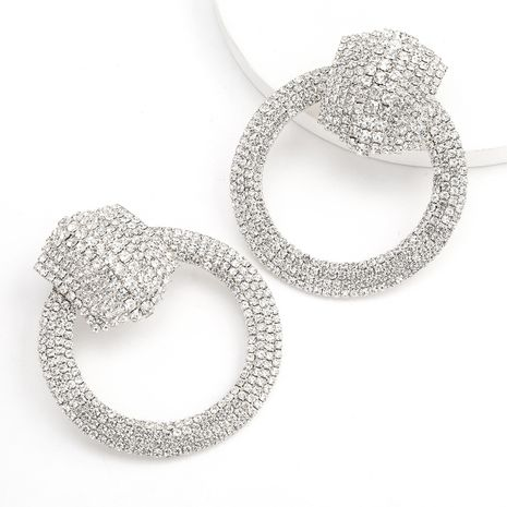 Alloy Diamond Rhinestone Ring Earrings wholesale nihaojewerly NHJE243018's discount tags