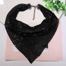Silver white and black threecolor sequined bibstyle metal super flash trendy fashion necklace for women NHJQ243029