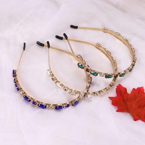 flashing gem metal trendy hair bands creative fashion earrings wholesale nihaojewelry NHJQ243030's discount tags