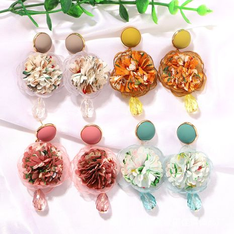geometric round drop-shaped pine cone creative fashion Morandi color series earrings wholesale nihaojewerly NHJQ243057's discount tags