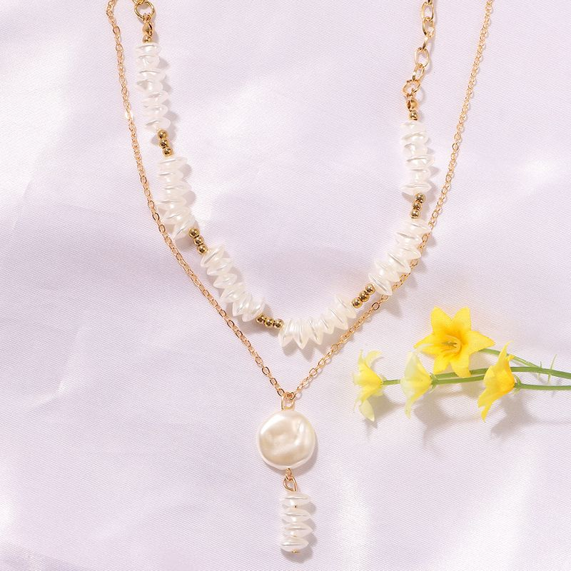 woven pure white pearl bohemian style simple fashion wild necklace pendant for women NHJQ243066