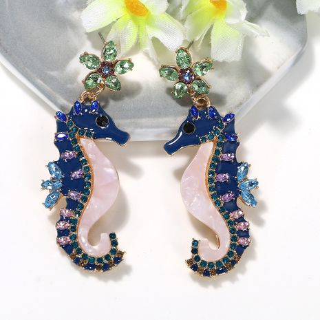 Blue  hippocampus   creative earrings wholesale nihaojewerly NHJQ243075's discount tags