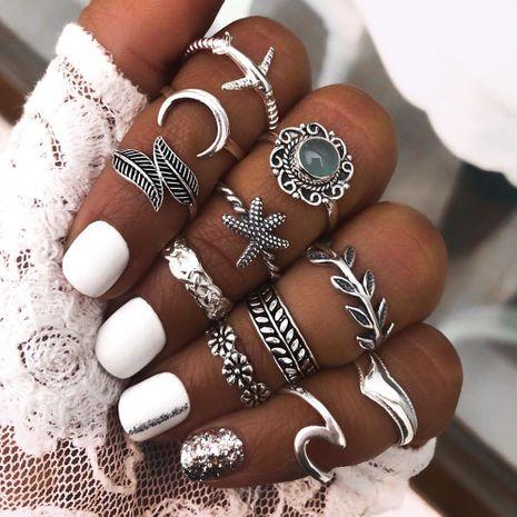 hot selling multi-piece retro diamond  geometric irregular ring set  wholesale nihaojewerly NHMD243086's discount tags