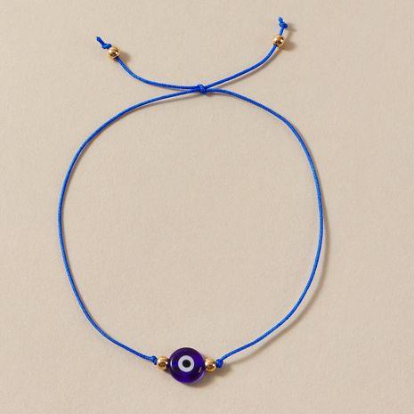 simple nueva cuerda trenzada ojo del diablo negro ojo azul aleación tobillera al por mayor NHGY243097's discount tags
