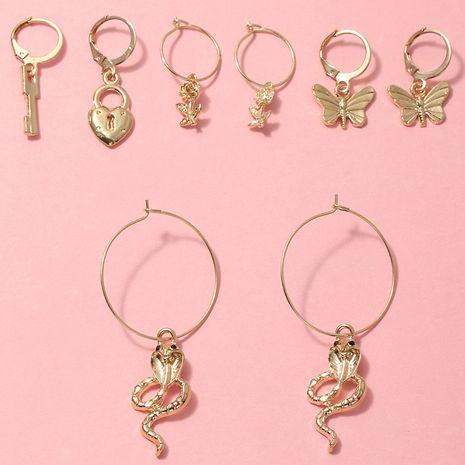 multi-element earrings set popular butterfly snake earrings wholesale nihaojewerly NHNZ243100's discount tags