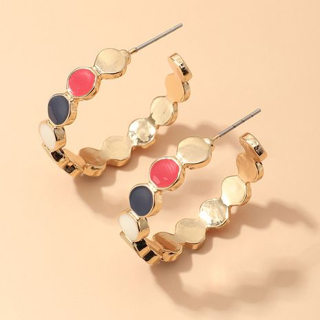 geometric C-shaped fashion alloy drip earrings wholesale nihaojewerly NHNZ243103's discount tags