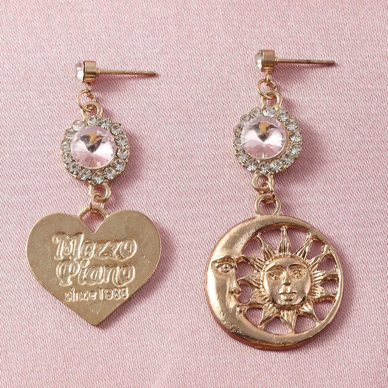 Baroque Love graved Letters Diamond Sun Earrings wholesale nihaojewerly NHNZ243105