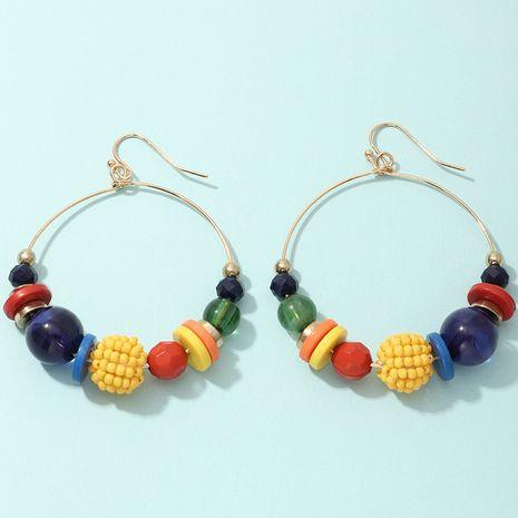 ethnic style geometric irregular handmade earrings creative color round bead earrings wholesale nihaojewerly NHNZ243106's discount tags