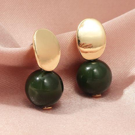 boucles d'oreilles sphériques vertes créatives simples en métal de mode en gros nihaojewerly NHNZ243107's discount tags